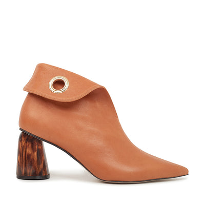 ASHLEY LIM designer boots for women - LAGARDE Vegetable Tanned Leather Ankle Boots 1 folded down