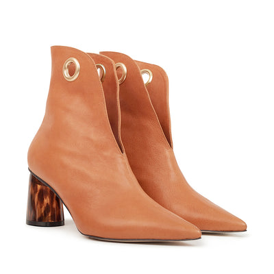 ASHLEY LIM designer boots for women - LAGARDE Vegetable Tanned Leather Ankle Boots 2