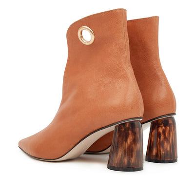 ASHLEY LIM designer boots for women - LAGARDE Vegetable Tanned Leather Ankle Boots 3