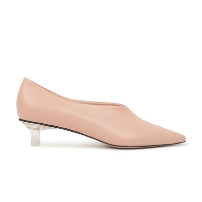ASHLEY LIM designer shoes for women - VICTORIA Blush Leather Pump Heels 1