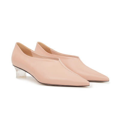 ASHLEY LIM designer shoes for women - VICTORIA Blush Leather Pump Heels 2