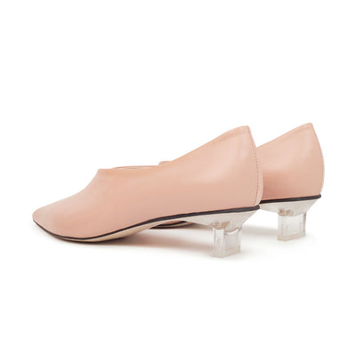 ASHLEY LIM designer shoes for women - VICTORIA Blush Leather Pump Heels 3