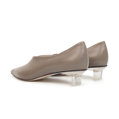 ASHLEY LIM designer shoes for women - VICTORIA Grey Leather Pump Heels 3