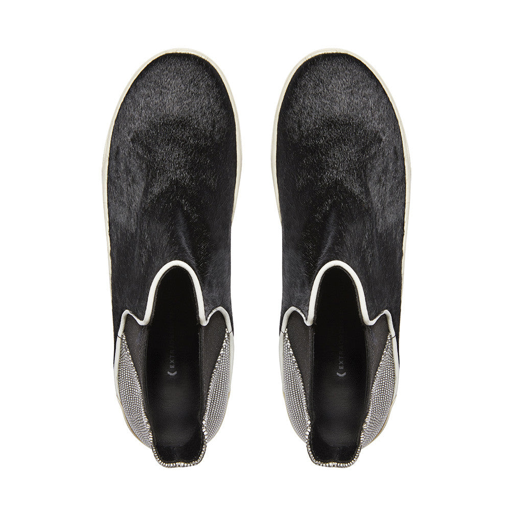 Made to Order | VENICE Chelsea Boots - Black Calf Hair and Embossed Leather - Extraordinary Ordinary Day