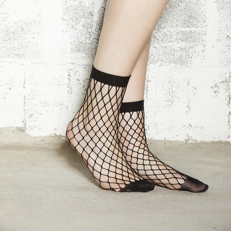 Fishnet Socks - Large Mesh, Black - Extraordinary Ordinary Day