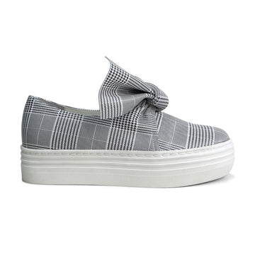 AMELIE Platform Slip-on Sneakers - Check - Extraordinary Ordinary Day
