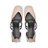 BONNIE Mary Jane Flats - Nude Pink with Navy Double Straps - Extraordinary Ordinary Day