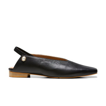 IRIS Slingback Flats - Black - Extraordinary Ordinary Day