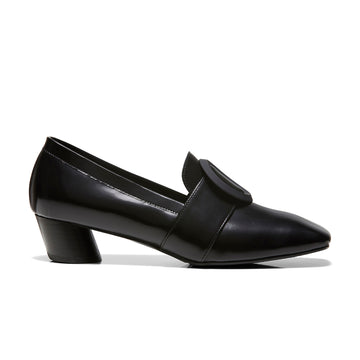 JOSEPHINE Buckle Loafers - Black Box Calf Leather - Extraordinary Ordinary Day