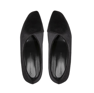 Made to Order | TARA Pump Heels - Black, Velvet - Extraordinary Ordinary Day