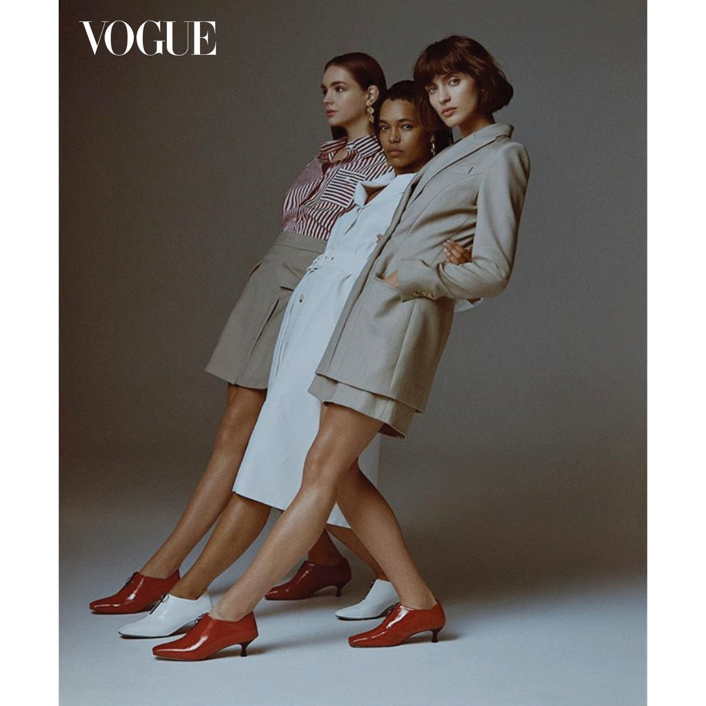 Vogue Australia September 2018 fashion editorial featuring ASHLEY LIM Elle pumps and Anna Quan