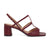 ALICE Slingback Leather Sandals - Burgundy
