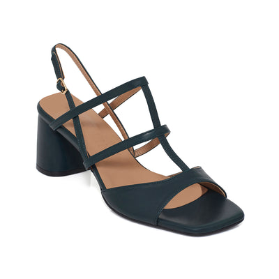 ALICE Slingback Leather Sandals - Dark Teal - Extraordinary Ordinary Day