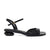 ANNA Pebble Low Heel Sandals - Black
