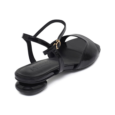 ANNA Mid-Heel Sandals - Black - Extraordinary Ordinary Day