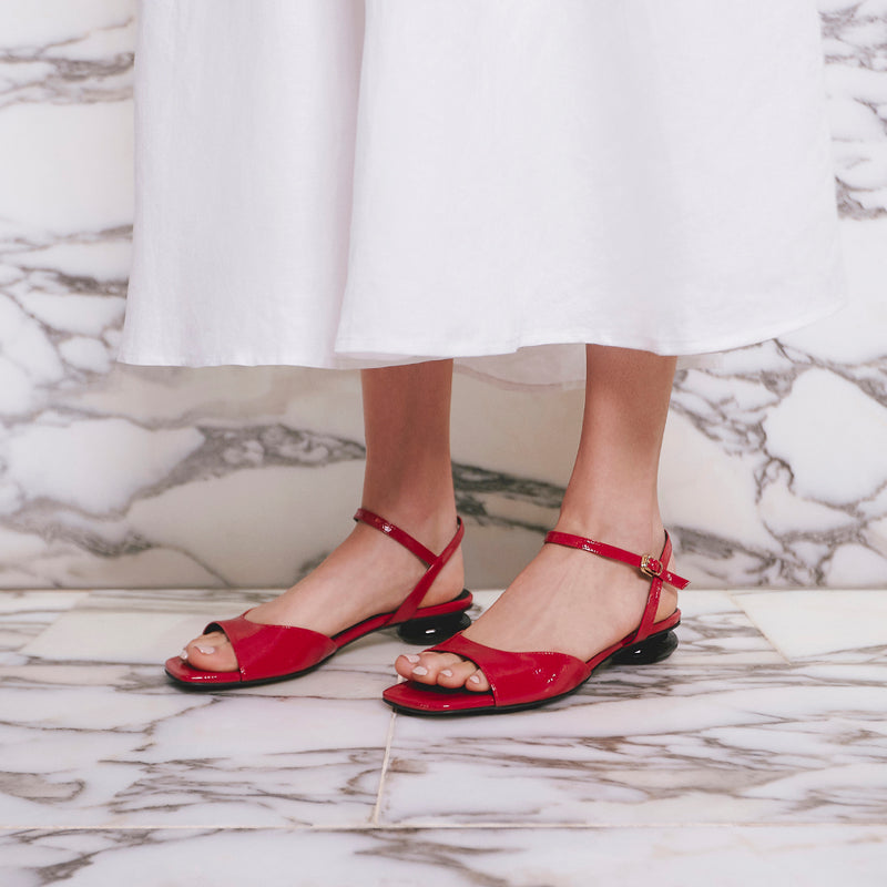 ANNA Mid-Heel Sandals - Red - Extraordinary Ordinary Day