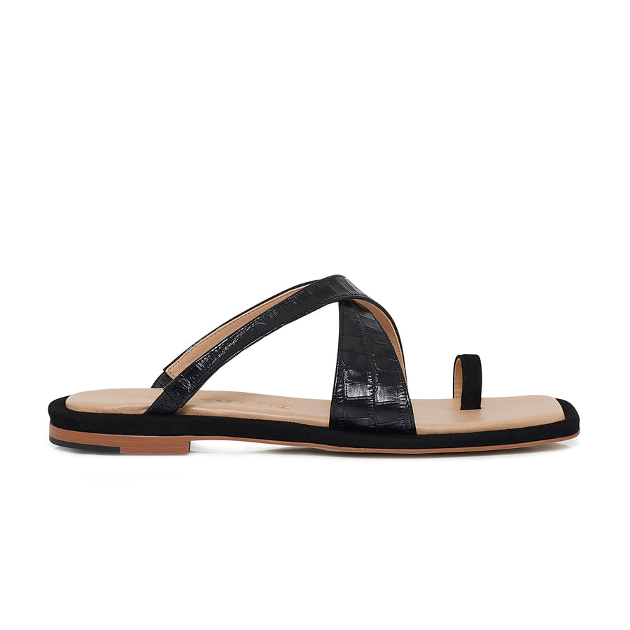 FEI FEI Leather Slides - Black - Extraordinary Ordinary Day