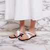 FEI FEI Leather Slides - White - Extraordinary Ordinary Day