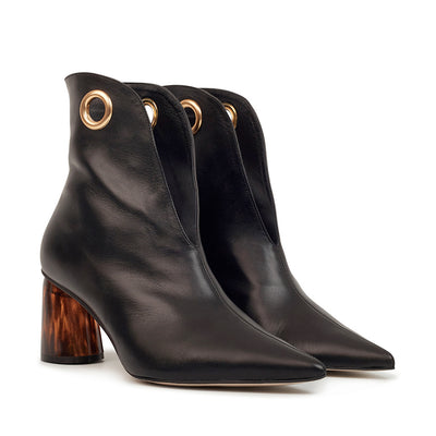 ASHLEY LIM designer boots for women - LAGARDE Black Leather Ankle Boots 2