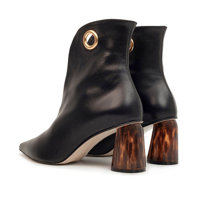 ASHLEY LIM designer boots for women - LAGARDE Black Leather Ankle Boots 3