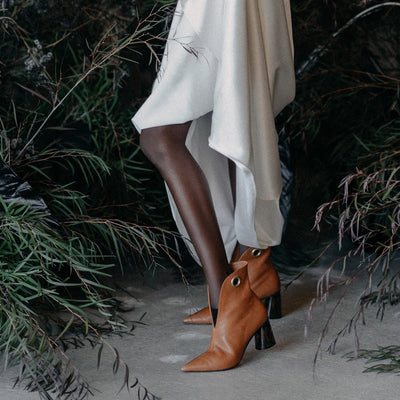 Lagarde vegetable tan boots for bridal fashion shoot for together journal_side