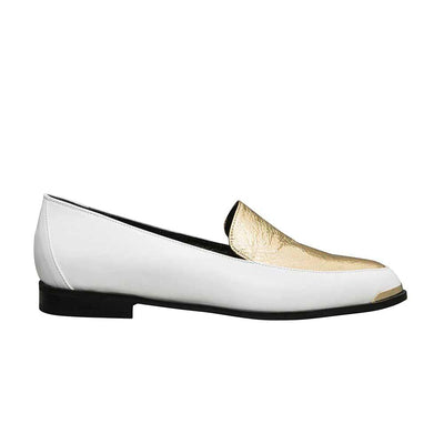 PERSIA Paneled Loafers - Black and Silver