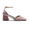 SCARLETT Velvet Heels - Blush pink velvet by ASHLEY LIM