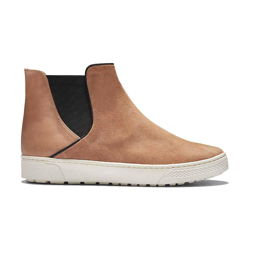 Women's Designer Shoes - Venice Peach Chelsea Boots - Side