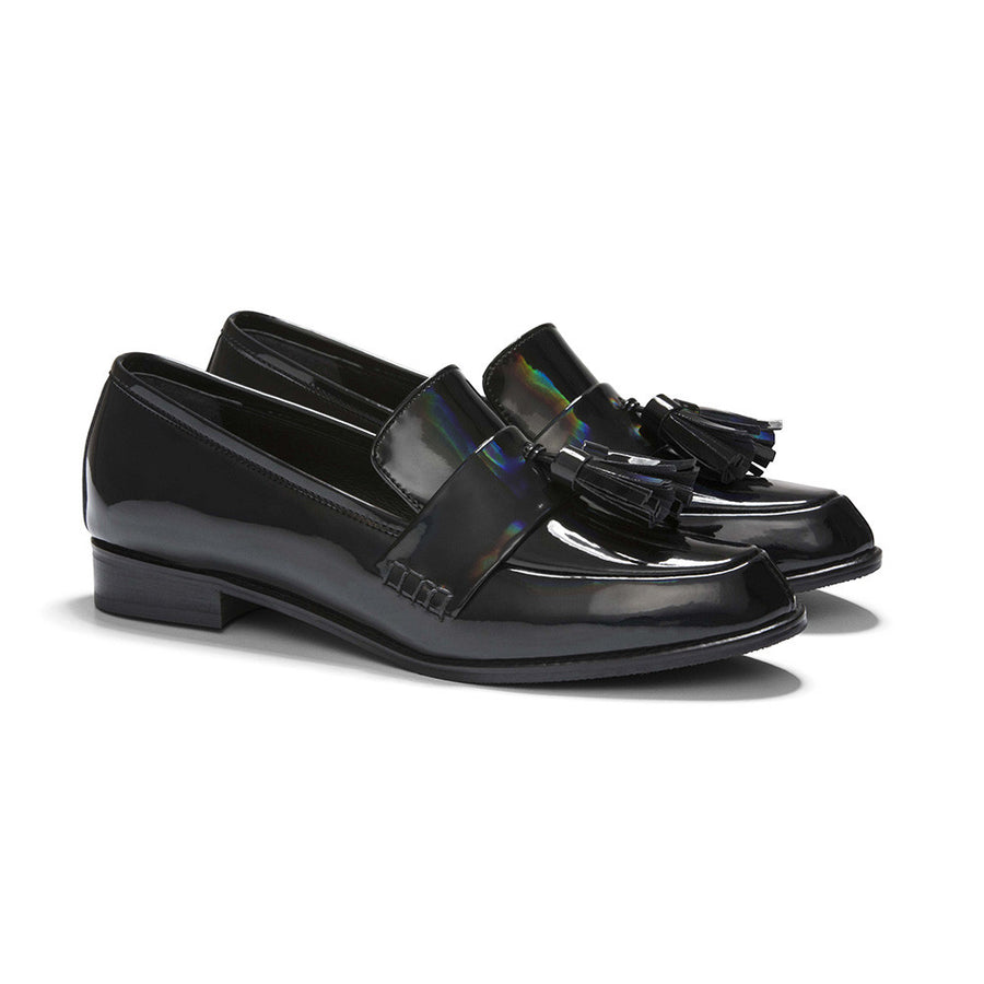 ECSTASY Tassel Leather Loafers - Patent Black - Extraordinary Ordinary Day