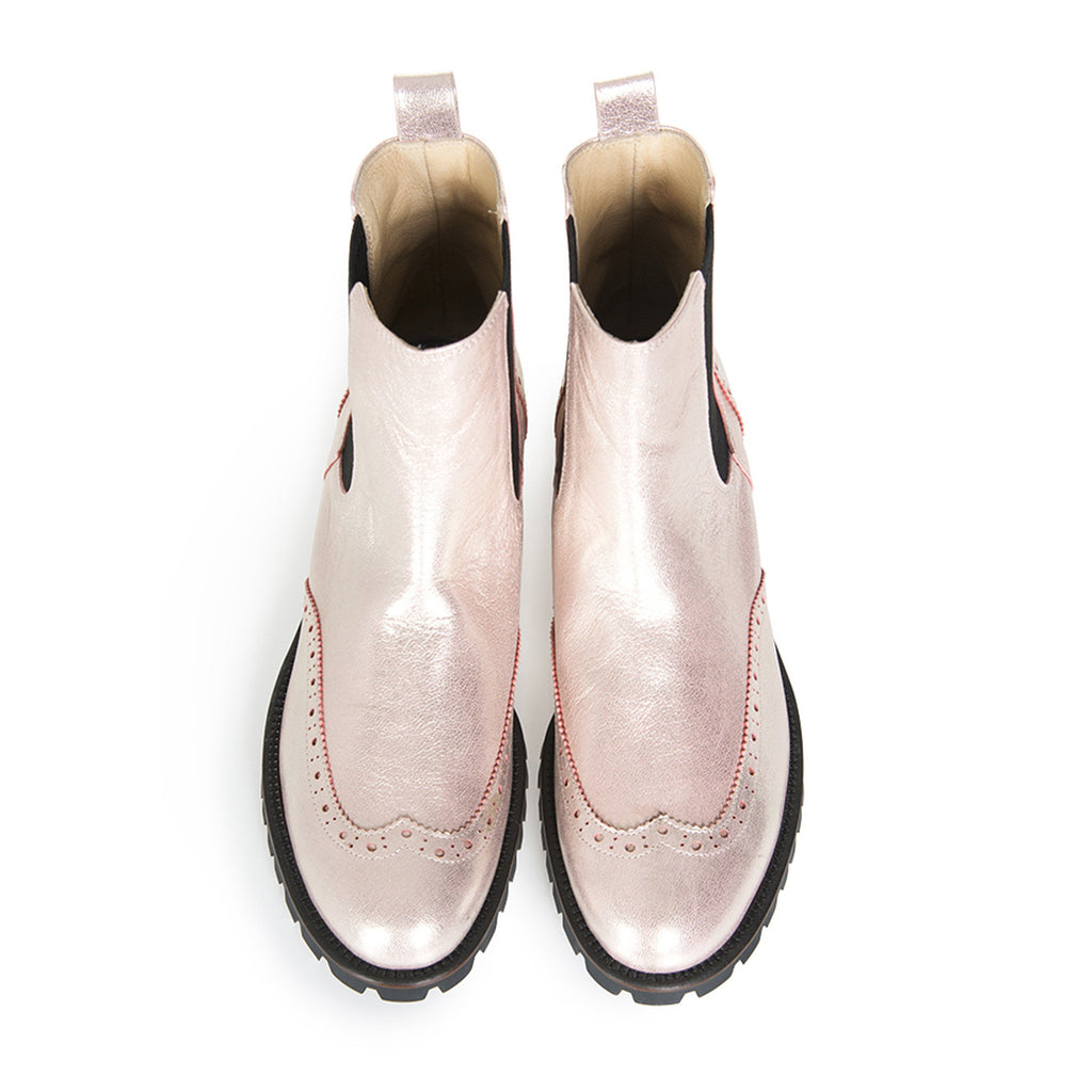Women's Designer Leather Chelsea Boots - Extraordinary Ordinary Day (EOD) Ladies Footwear - Moon Boot Pink Boots Online