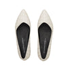 PALMYRA Pointed Toe Flats - Ivory / Only Size 36, 40 Left - Extraordinary Ordinary Day