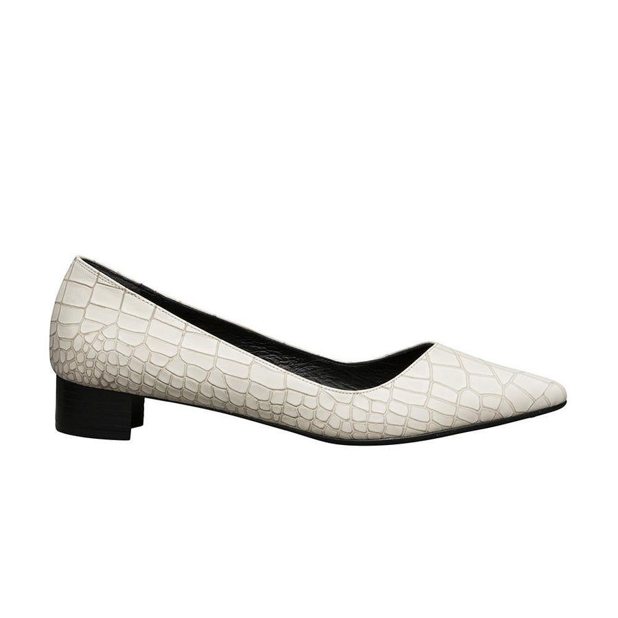 Women's Designer Flat Shoes - Palmyra Ivory Flats - Side
