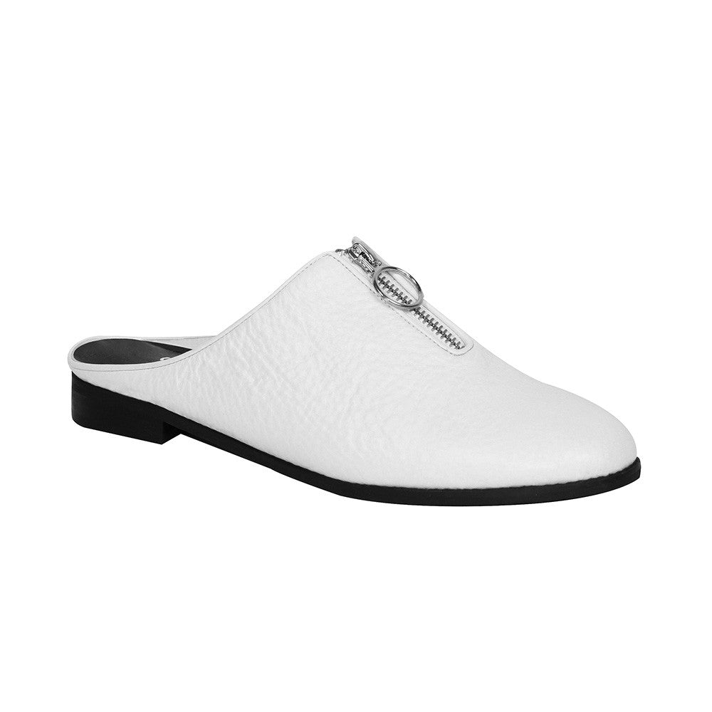 Women's Designer Slide Shoes - Urban Slider White Slip-on - Prospective