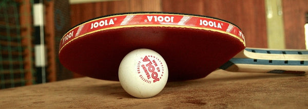 Joola table tennis bat and ball