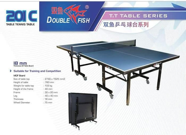 Double Fish 201C Superior Table Tennis Table