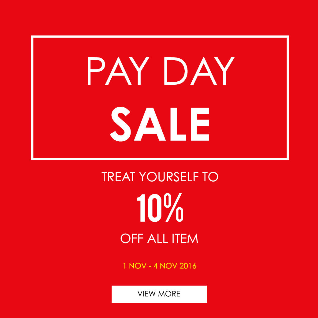 Eclemix Pay Day Sale 10% OFF ALL ITEM 1-4 Nov 2016
