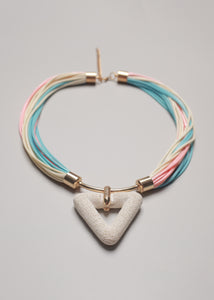 Candy Pink Blue Necklace