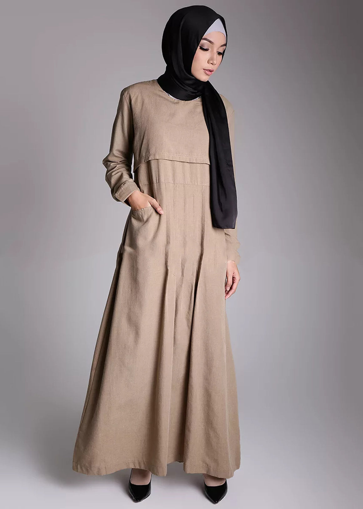 Basaya Dress Beige - eclemix