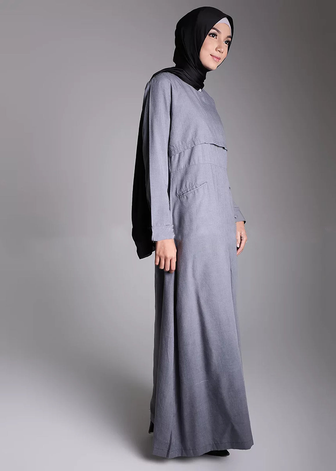 Basaya Dress Grey - eclemix