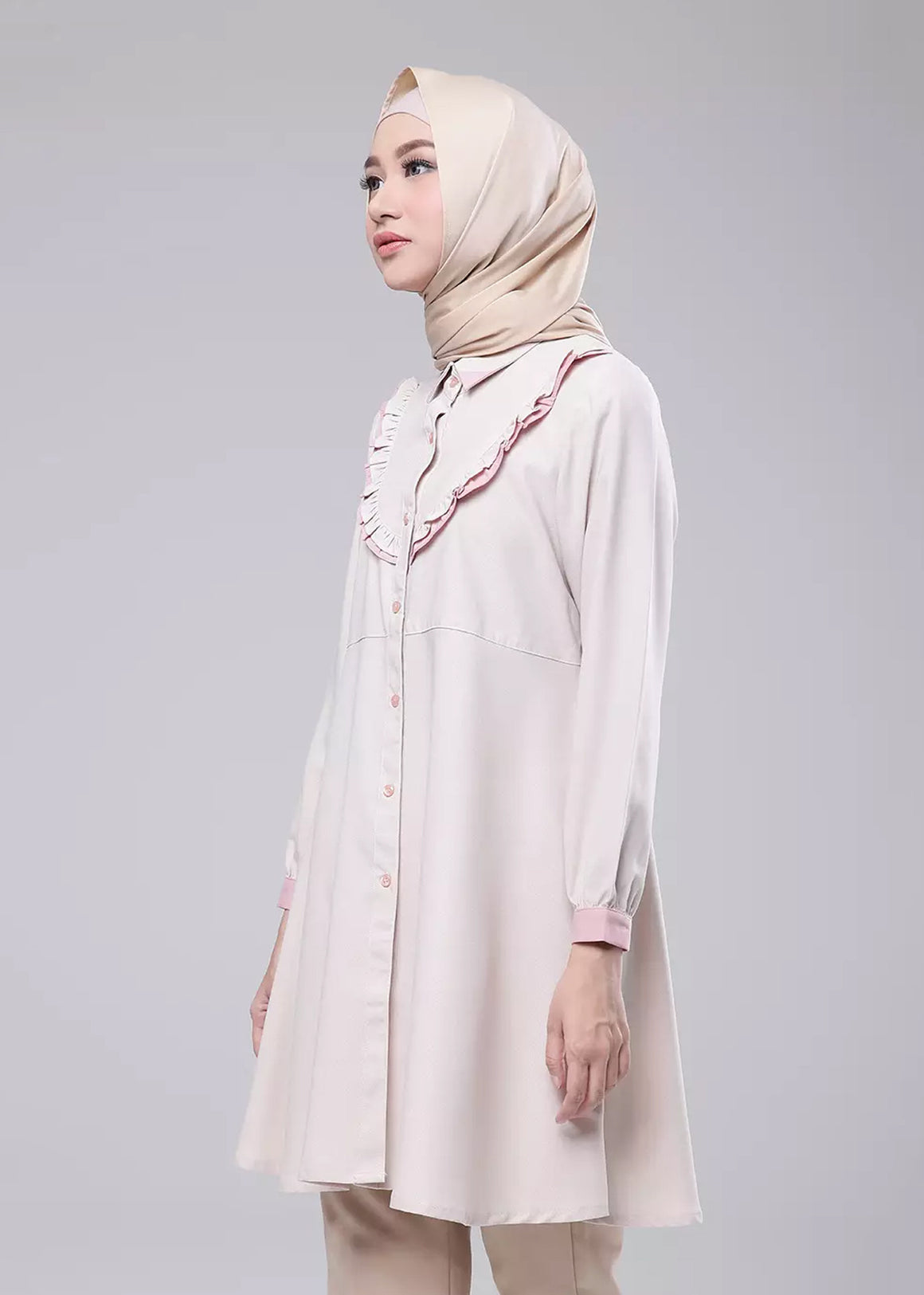 Catelyn Tunic in Light Brown