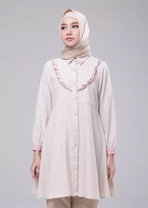 Catelyn Tunic in Light Brown - eclemix