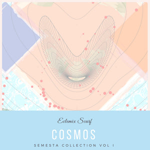Semesta Collection : Cosmos Square Printed Hijab - eclemix