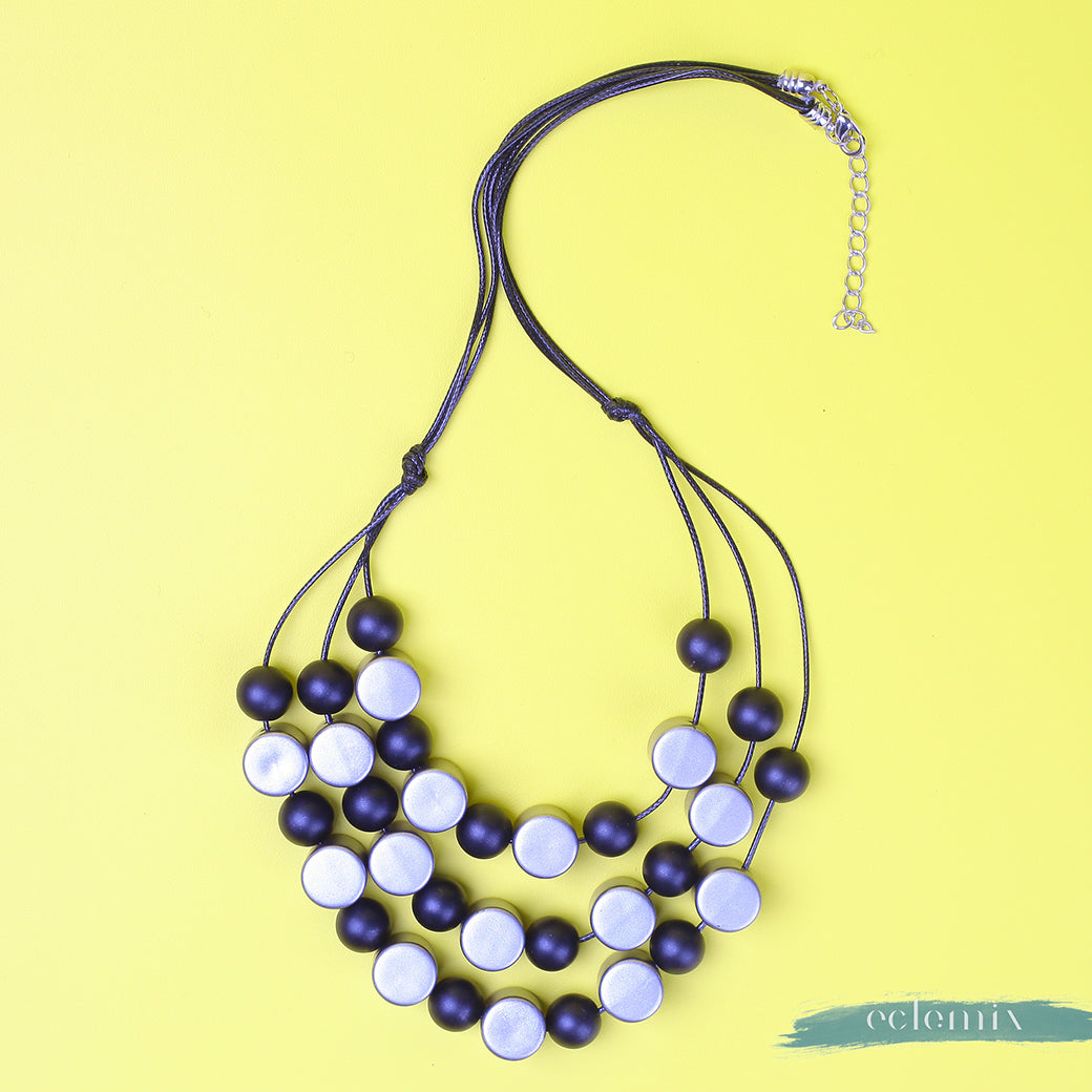 Geo Black Necklace