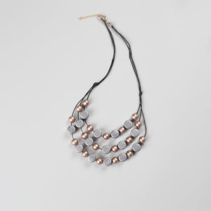 Geo Silver Champagne Necklace - eclemix