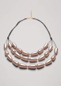 Ovalia Champagne Necklace - eclemix
