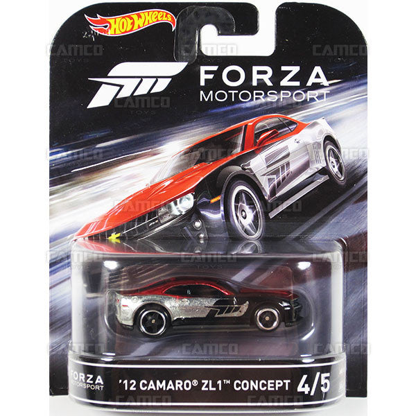 12 CAMARO ZL1 CONCEPT - 2016 Hot Wheels Retro Entertainment D Case (FORZA Motorsport) Assortment DMC55-959D by Mattel