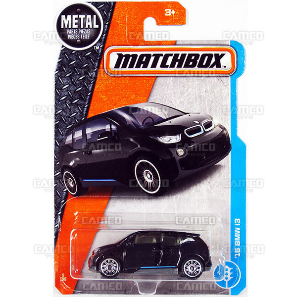 15 BMW i3 #5 black - from 2017 Matchbox Basic J Case Assortment 30782 by Mattel.