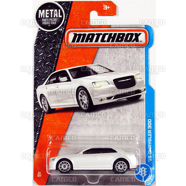 15 Chrysler 300 #22 white - from 2017 Matchbox Basic J Case Assortment 30782 by Mattel.