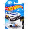 15 Mazda MX-5 Miata #40 white Mad Mike (NightBurnerz) - 2018 Hot Wheels Basic Mainline B Case Assortment C4982 by Mattel.