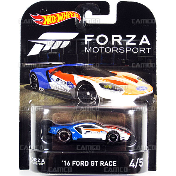 16 Ford GT Race (Forza Motorsport) - 2017 Hot Wheels Retro Replica Entertainment E Case assortment DMC55-956E by Mattel.